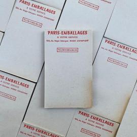 bloc notes ancien brocante paris emballage vintage 1960 1970