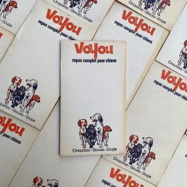 bloc notes ancien brocante voyou croquettes chien vintage 1970