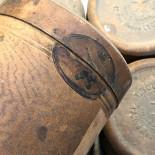 round cardboard box t bouchard pharmacy chemistry product vintage antique 1900 lyon 12 rue neuve codex