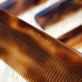 vintage comb men man 1960 plastic french manufacture antique rhodoid tortoise shell style fake