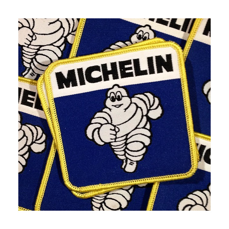 michelin bibendeum patch embroidement embroidery vintage antique 1990 blue workwear