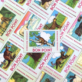 bon point favor school vintage old antique 1940 1950 animals biscuits pernot illustration