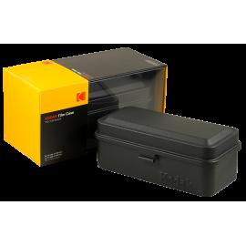 Kodak film case 35mm 120 films film big wide double analog vintage metal metallic sort travel storage store black
