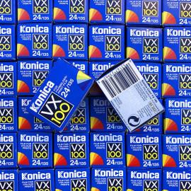 pellicule périmée argentique 35mm couleur konica VX 100 24 poses 1999