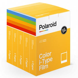 pellicule instantanée polaroid party pack 40 films type i-type one step 2 one step plus couleur bord blanc now
