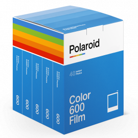 party pack 40 films pellicule polaroid film impossible project 600 couleur bord blanc instantanee