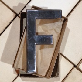 f france french numberplate metal antique vintage garage 1960