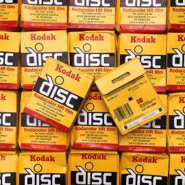 kodak disc kodacolor HR 200 30 exposures film analog expired 1984 rare format