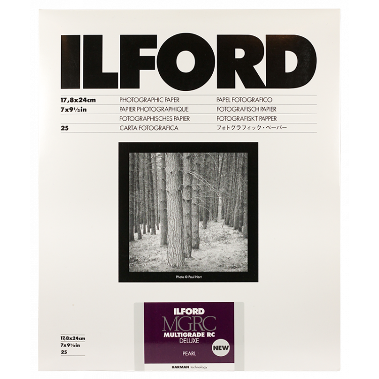 ilford multigrade mgrc V 5 pearl resin coated variant photo paper black and white rc resin coated 18 24cm 25 pieces sheets