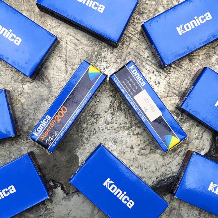 konica super sr 200 126 film analog rare format instamatic expired vintage
