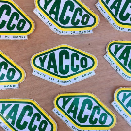sticker yacco oil garage car french france antique vintage 1970 1980