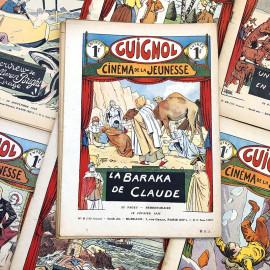 novel paper book illustrated newspaper cartoon guignol antique vintage 1935 1936