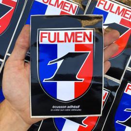 sticker fulmen 1 france french oil garage car french france antique vintage 1990