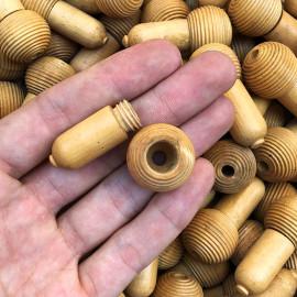 petit gland rideau lien perle boule bas en bois tourné du jura jurassienne ancienne vintage 1950 1960