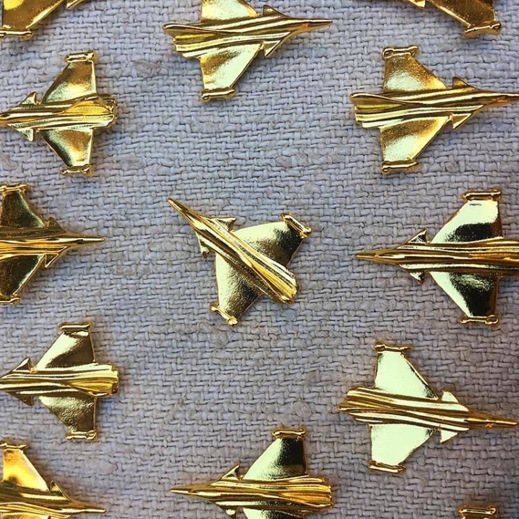 rafale ship air airship plane airplane 1990 golden gold pin's pin badge vintage antique