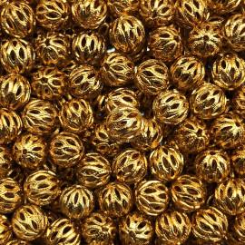ancienne perle métal métallique doré or cheveux coiffe coiffure décor 1920 1930
