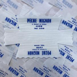 emballage papier peche mignon patisserie ancien vintage 1950 1960