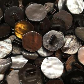 bouton effet nacre vintage ancien mercerie 1960 16mm