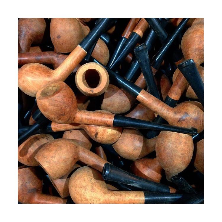pipe courbée bois bruyère st-claude jura ancien vintage tabac atelier 1970