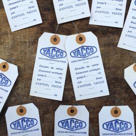 yacco gas station label paper oil garage car french france antique vintage 1980