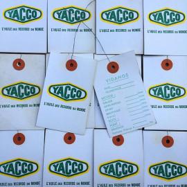 yacco gas station label paper oil garage car french france antique vintage 1970