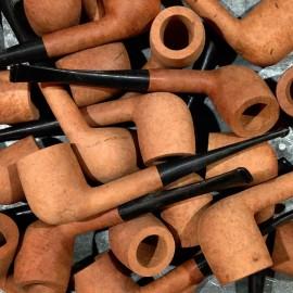 pipe bois racine bruyère st-claude droite tabac jura ancien vintage atelier 1970