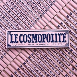 papier feuille a rouler cigarette le cosmopolite rose c pradon 45 rue maubeuge ancien vintage 1890 1900 tabac