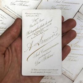 photo card cardboard antoine lumiere vintage antique 1880 1890 rue de la barre lyon white