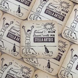 stella artois bière alcool aperitif sous bock carton ancien vintage alcool 1960
