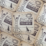 stella artois beer alcool aperitif coaster antique vintage cardboard bar 1960