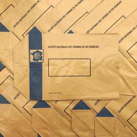sncf railway train rail france belgium pop paper bag kraft 1940 1945