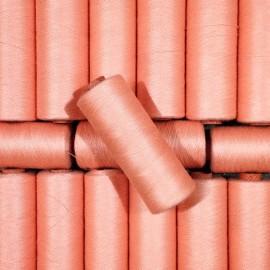 petite bobine coton saumon mercerie ancien vintage fil 1990