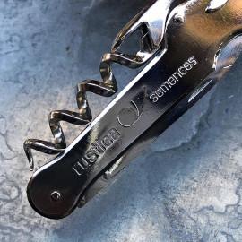 small knife bottle opener metal metallic vintage seeds rustica 1980 french france