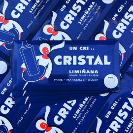 cri cristal anis alcool aperitif glacoide glaçoide ancien vintage alcool 1960 1950 liminana