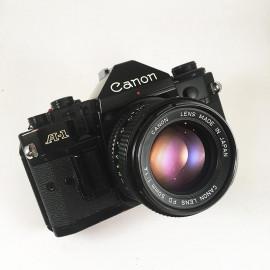 analog canon A-1 A1 35mm camera reflex 135 film vintage antique 1.4
