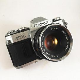 canon ae1 ae-1 reflex analog 50mm 1.8 35mm 135 chrome silver fd