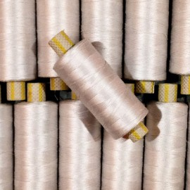 bobine fil coton argenté ancien vintage mercerie  petite 1990