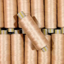 bobine coton doré fil ancien vintage mercerie 1990