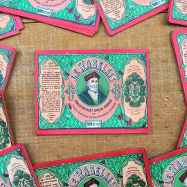 étiquette ancienne papier épices assaisonnement le rabelais verte vert cuisine ancien vintage 1930