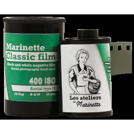 Marinette Classic Film M104 Pellicule Svema Astrum Type 17 Tasma aerial 400 iso noir et blanc haute vitesse