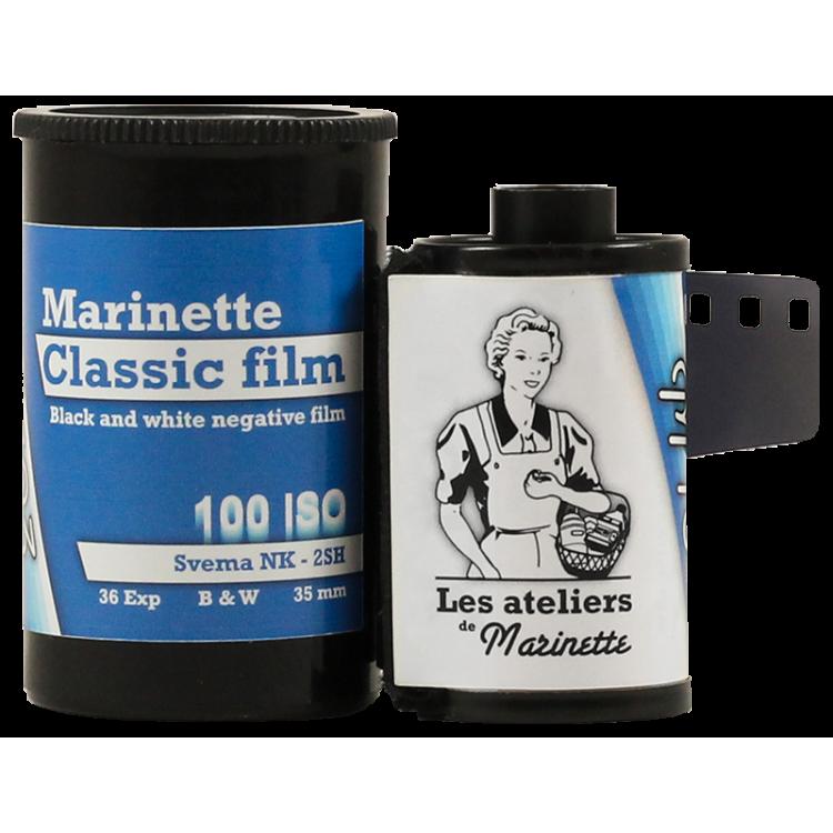 Marinette Classic Film 100 Iso Film Svema Astrum NK 2SH low iso analog film grain black and white