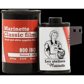 Marinette Classic Film M105 Pellicule Svema Astrum A 2SH A2SH 800 iso noir et blanc haute vitesse