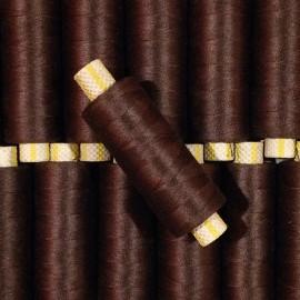 bobine marron fil cotton ancien vintage mercerie 1990