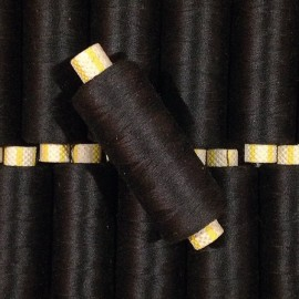 bobine fil coton noir ancien vintage mercerie 1990