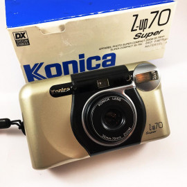 Konica Z up super 35-70mm analog film camera point and shoot 35mm zoom box