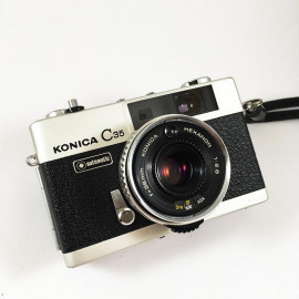 konica c35 auto hexanon 38mm 2.8 compact rangefinder analog camera
