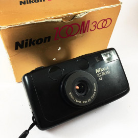 nikon AF300 zoom 300 compact 35-70mm point and shoot autofocus sure shot vintage camera film analog 35mm 135