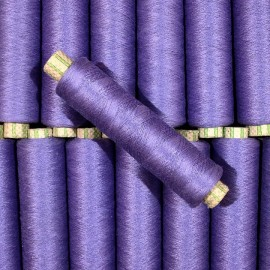 bobine violet fil coton ancien vintage mercerie 1990