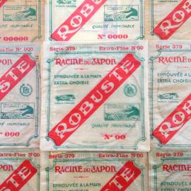 racine nylon fishing line japanese robuste illustration paper bag vintage 1930