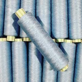 bobine coton fil bleu ciel ancien vintage  mercerie 1990